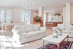 Domaine de Vincenti   La Forge - Salon, salle à manger, cuisine